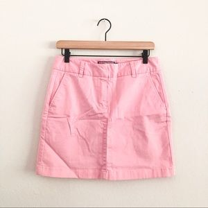 VINEYARD VINES • pink cotton mini skirt